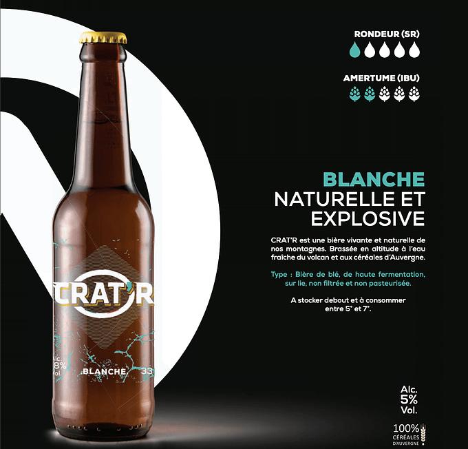 Crat'r blanche bio 33cl 1