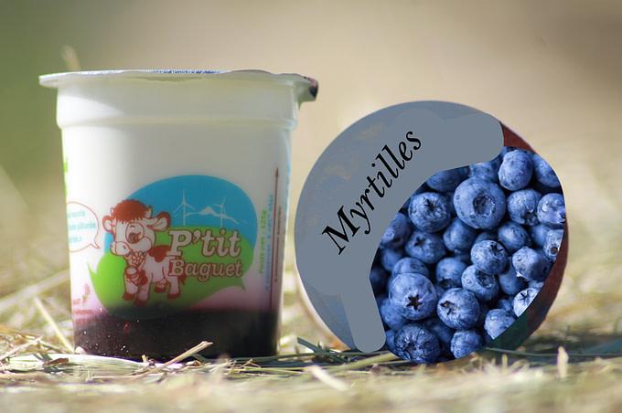 🆕 Yaourt Brassé Coulis Myrtilles 4 X 130G 1