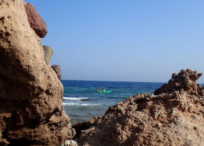 Vista del paisaje en kayak